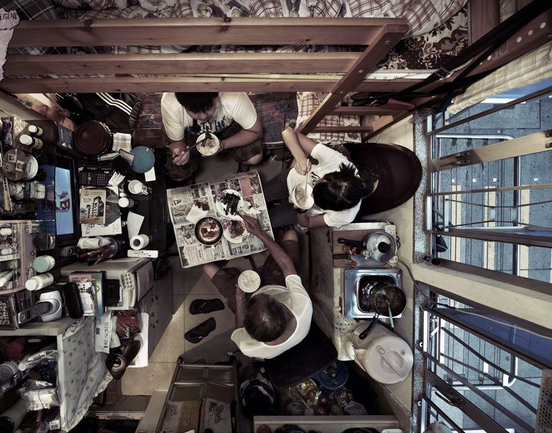 Shocking ariel photos of cramped Hong Kong apartments, Hong Kong - 22 Feb 2013