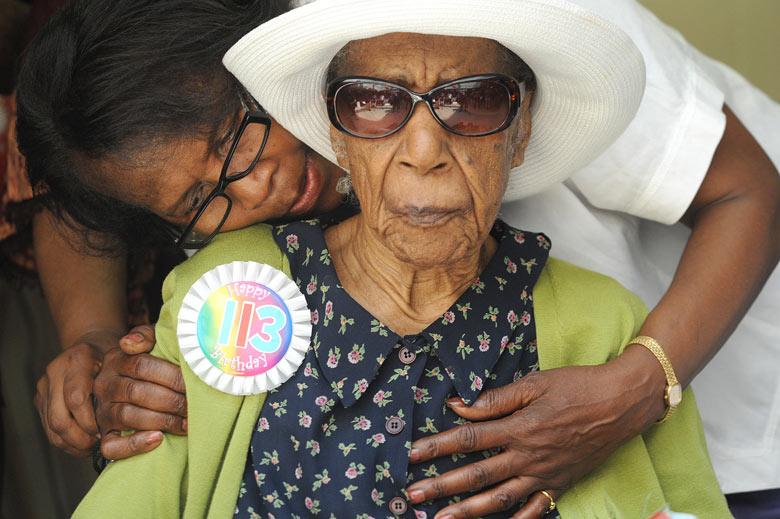 Susannah Mushatt Jones celebrates her 113th birthday, New York
